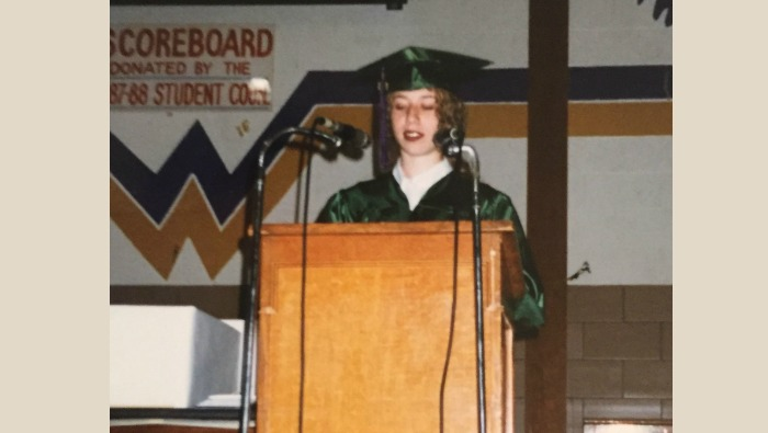 What Have You Forgotten?  (plus, me in a cap and gown)